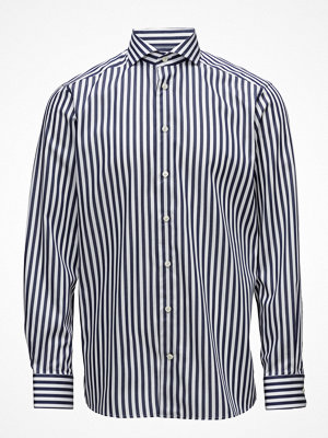 Eton Navy & White Bold Striped Shirt
