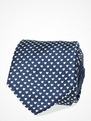 Slipsar - Eton Navy Valentine'S Woven Silk Tie