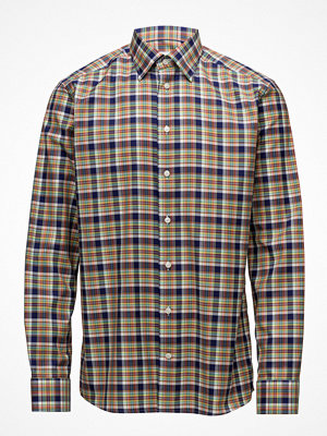 Eton Multi Check Button Under Shirt