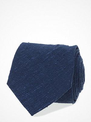 Slipsar - Eton Navy White Shantung Cotton & Silk Tie