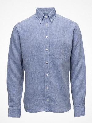 Eton Blue Button Down Linen Shirt