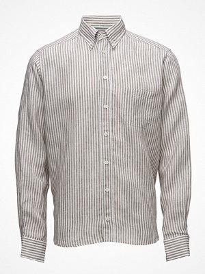 Eton Brown Striped Linen Shirt