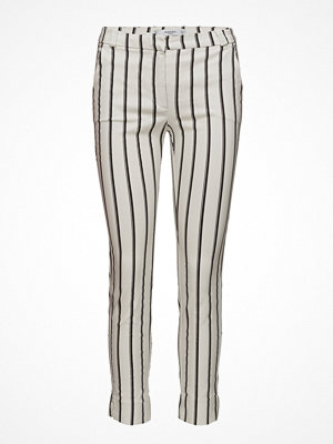 Mango randiga byxor Crop Slim-Fit Trousers