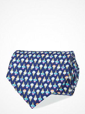 Slipsar - Eton Navy Ice Cream Print Silk Tie