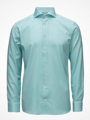 Eton Green Gingham Check Sablé Shirt
