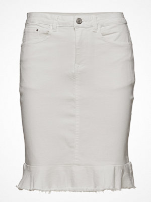 Vila Vicommit Peplum Denim Skirt