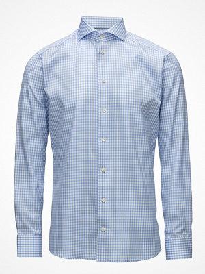 Eton Blue Gingham Check Sablé Shirt