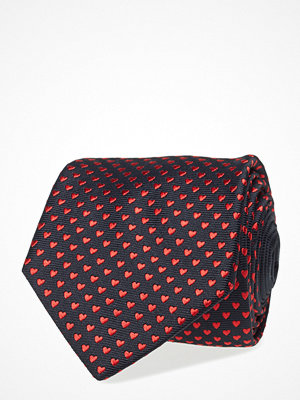 Slipsar - Eton Red Valentine'S Woven Silk Tie