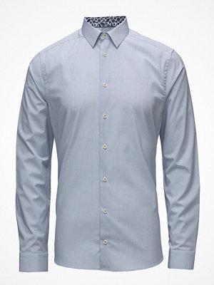 Eton Blue Check Shirt - Palm Print Details