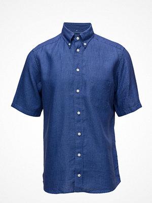Eton Navy Linen Shirt - Short Sleeve