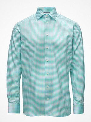 Eton Green Gingham Check Sablé Shirt