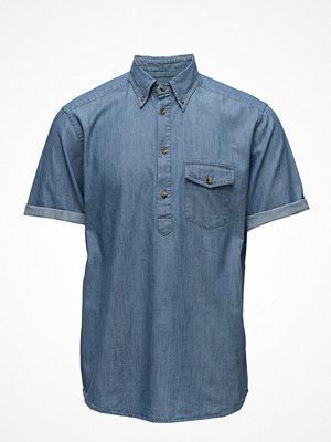 Eton Denim Short Sleeve Popover Shirt