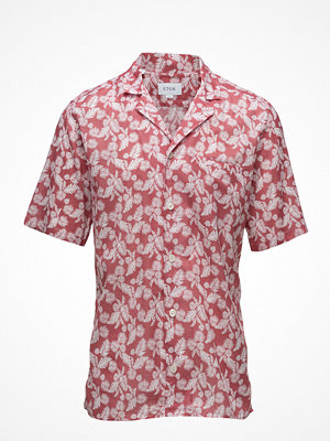 Eton Red Palm Print Resort Shirt