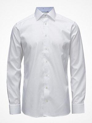 Eton White Shirt - Banana Jacquard Details