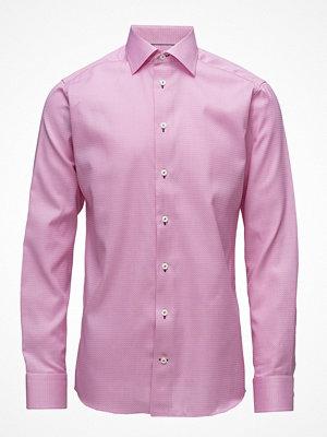 Eton Pink Twill Shirt - Navy Details