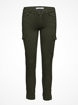 Mango omönstrade byxor Cotton Cargo Trousers