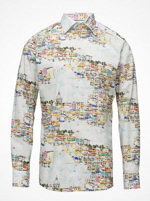Eton Lisbon Skyline Print Shirt