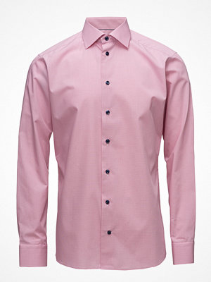 Eton Pink Shirt - Navy Buttons