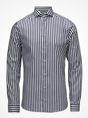 Eton Navy & White Bold Striped Shirt