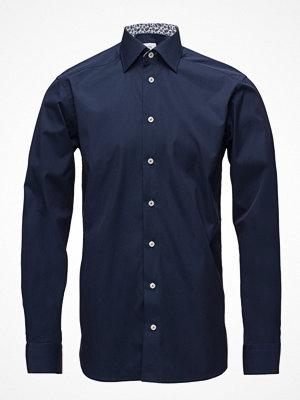 Eton Navy Shirt - Palm Print Details
