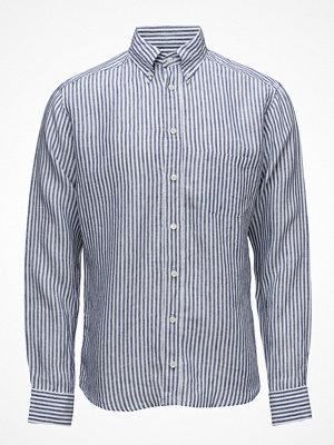 Eton Navy Striped Linen Shirt