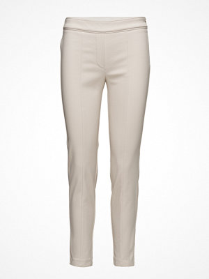 Mango vita byxor Zip-Pocket Slim-Fit Trousers