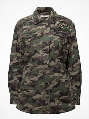 Mango Camo-Print Jacket