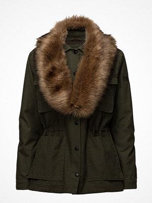 Lee Jeans Fur Trimmed Jacket