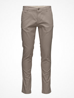 Byxor - Knowledge Cotton Apparel Fabric Dyed Chino Pant  - Gots