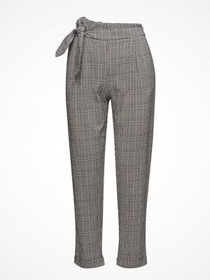 Mango rutiga byxor Knot Detail Trousers