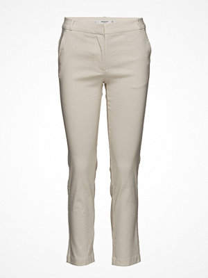 Mango vita byxor Straight Linen-Blend Trousers