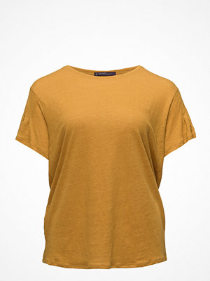 Violeta by Mango Frills Linen T-Shirt