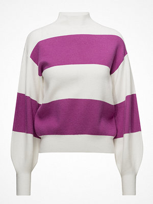 Mango Puffed Sleeves Striped Sweater