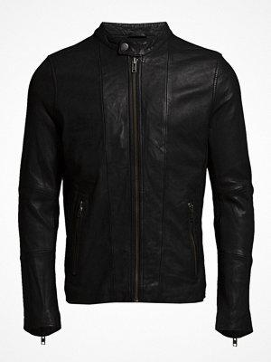 Skinnjackor - Lindbergh Leather Biker Jacket