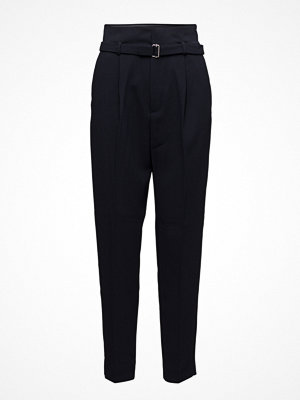 Mango svarta byxor Detachable Belt Trousers