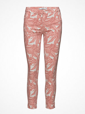 Mango mönstrade byxor Crop Slim-Fit Trousers