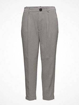 Mango grå mönstrade byxor Houndstooth Trousers