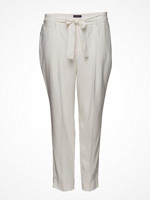 Violeta by Mango ljusgrå byxor Flowy Straight-Fit Trousers