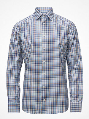 Eton Beige & Blue Check Shirt