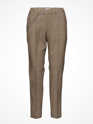 Mango omönstrade byxor Pocket Linen-Blend Trousers