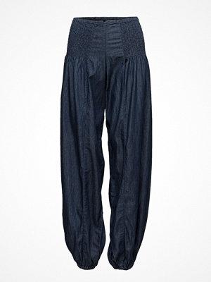 Pulz Jeans svarta byxor Jill Wide Denim Pant
