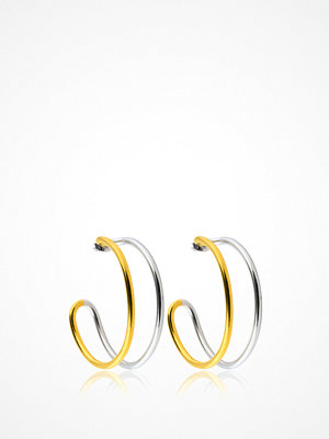 SOPHIE By SOPHIE smycke Two Tone Hoops M