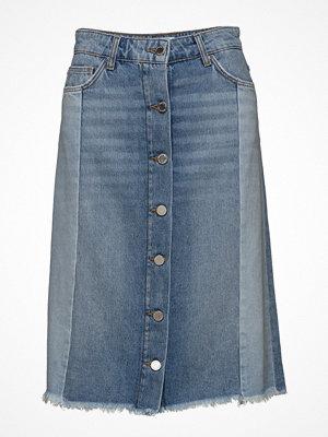 Mango Combined Design Denim Skirt
