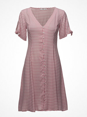 Mango Check Pattern Midi Dress
