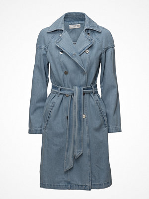 Trenchcoats - Mango Double Breasted Denim Trench