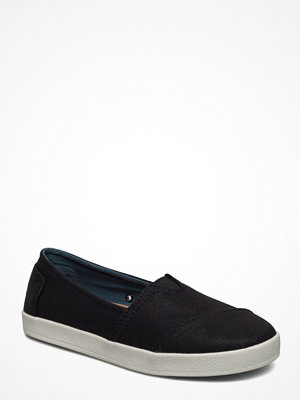 Tygskor & lågskor - Toms Black Coated Canvas