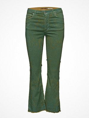 Please Jeans Shortcut Green Palms