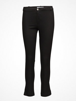 Mango svarta byxor Slim-Fit Stretch Trousers