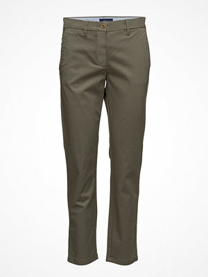 Gant omönstrade byxor Classic Cropped Chino