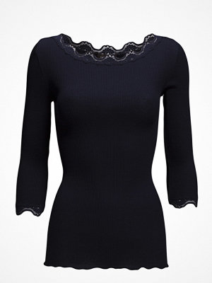 Rosemunde Silk T-Shirt Boat Neck Regular W/Vintage Lace